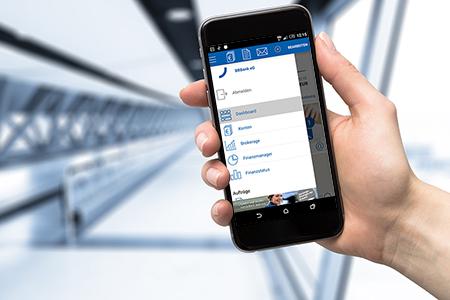 Häufige Fragen (FAQ): Smartphone mit BBBank-App im Homescreen