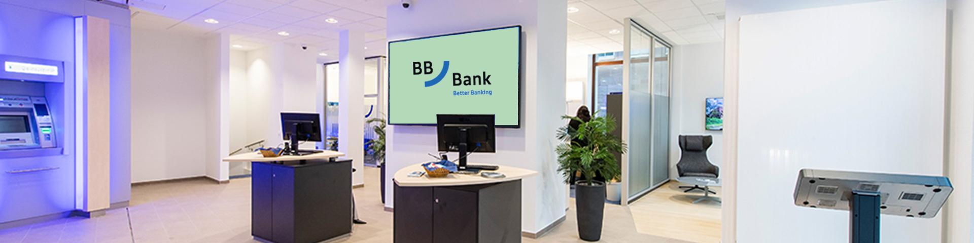 Filialien in der Übersicht: Logos und Insignien der BBBank machen die über 100 Filialen bundesweit wiedererkennbar.