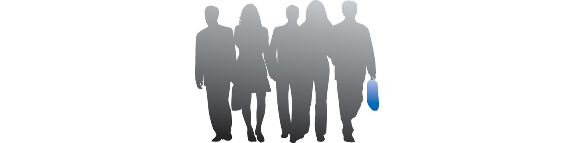 Leitbild: Schattenfiguren stehen für das Leitbild der BBBank.